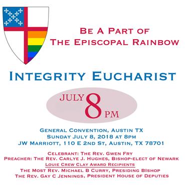 Integrity Eucharist 8pm July 8 - JW Marriott Austin TX